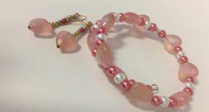Tell Every Amazing Lady® Earring & Bracelet Set – Pink
