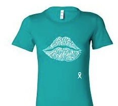 Tell Every Amazing Lady® Lip Logo Tee – Teal