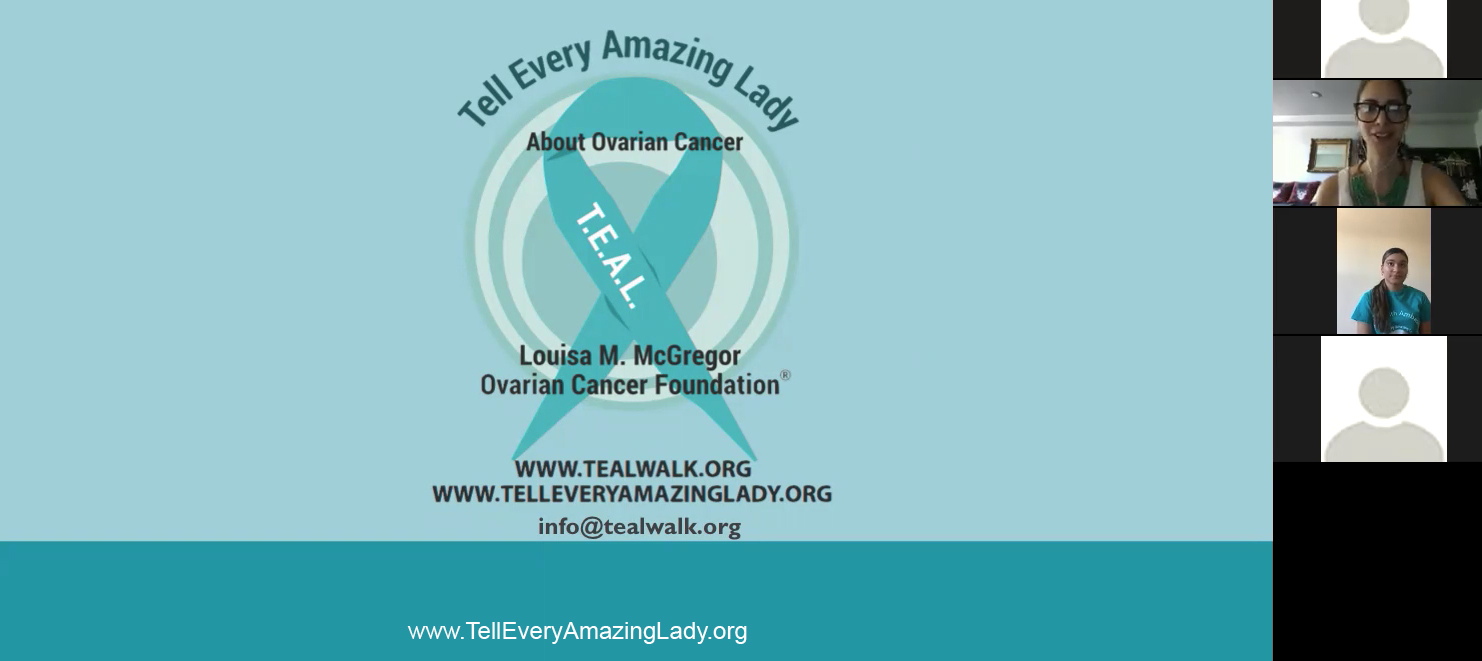 T E A L Records Ovarian Cancer Awareness Presentation For Bronx House T E A L Walk Tell Every Amazing Lady