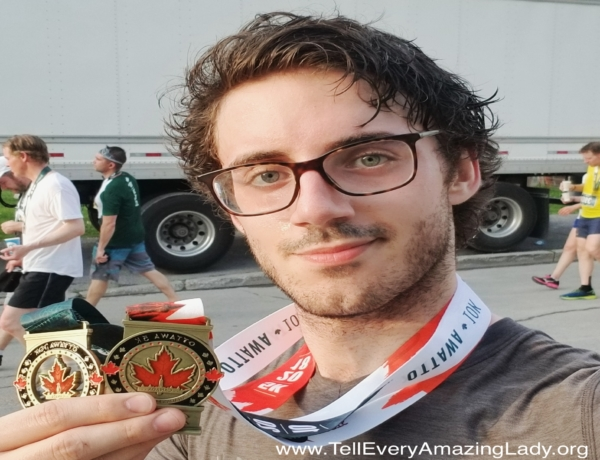 2020 TCS New York City Marathon runner for team Tell Every Amazing Lady®: Conner