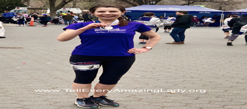 2020 TCS New York City Marathon runner for team Tell Every Amazing Lady®: Monika