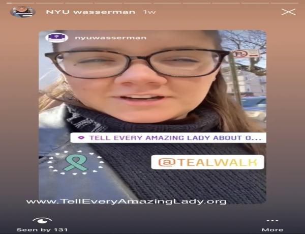 T.E.A.L.® staff member takes over NYU Wasserman social media