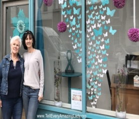 T.E.A.L.® volunteers create stunning window display