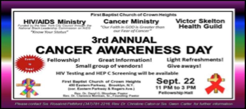 1st Baptist Church Cancer Awareness Day