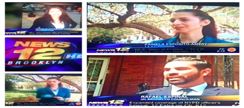 CEO Interviewed on Channel 12 News for World Ovarian Cancer Day