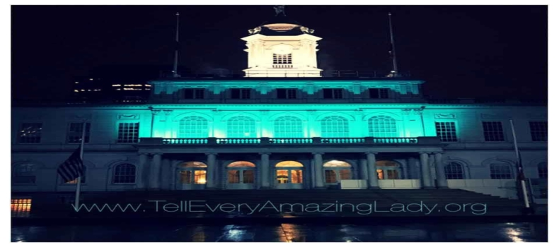 T.E.A.L.® Lights City Hall Teal