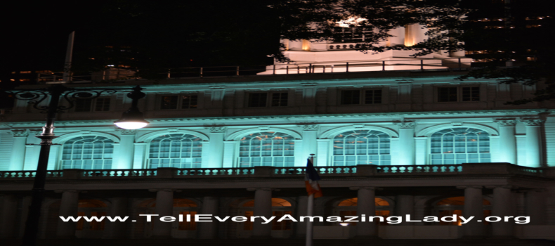 City Hall glows teal for ovarian cancer awareness