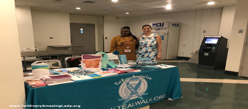 T.E.A.L.® educates about ovarian and breast cancers at hospital event