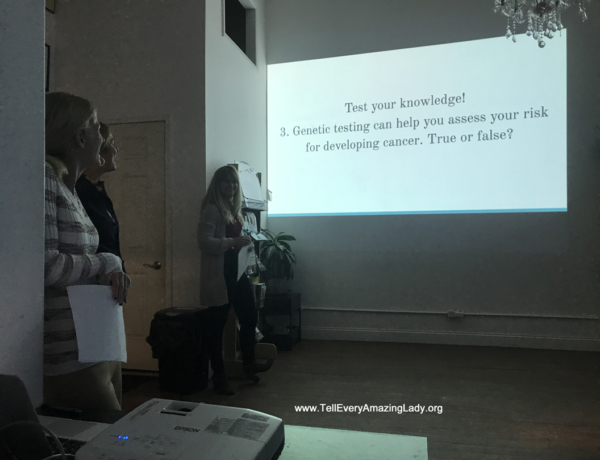 Genetic counseling students cap off genetics project at T.E.A.L.® with presentation