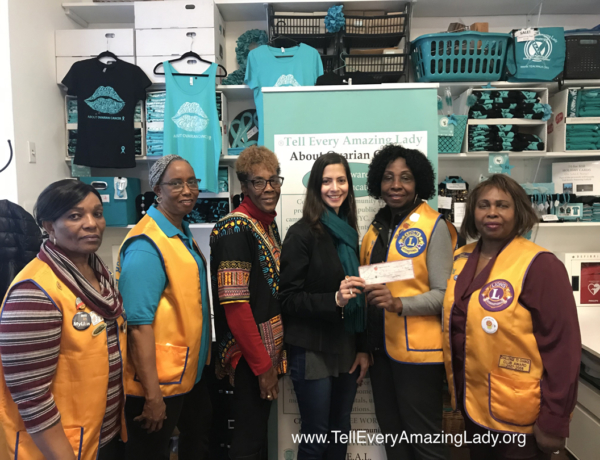 Lions present donation to T.E.A.L.®