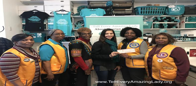 Lions present donation to T.E.A.L.®