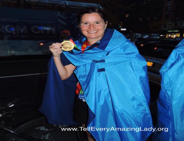 2020 TCS New York City Marathon runner for team Tell Every Amazing Lady®: Lisa