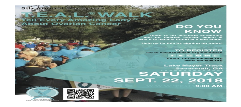 Registration is open for the 5th Annual Savannah T.E.A.L.® Walk!