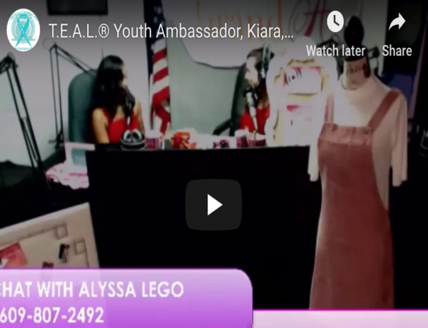 T.E.A.L.® Youth Ambassador, Kiara, Radio Interview