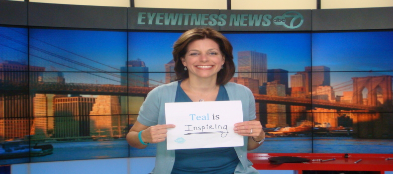 Stacey Sager and WABC Channel 7 Eyewitness News Spread Awareness About T.E.A.L. and Ovarian Cancer