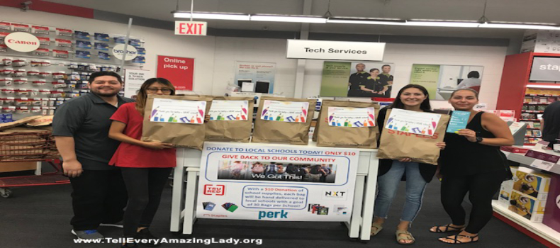 Staples presents donation to T.E.A.L.®