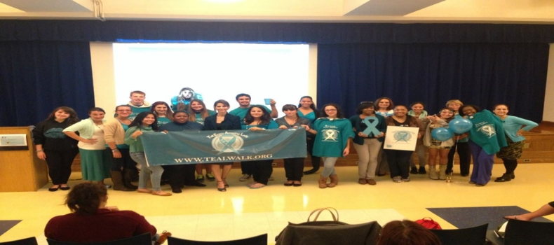 T.E.A.L. Speaks at St. Josephs College's Ovarian Cancer Awareness Day
