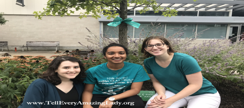T.E.A.L.® hangs awareness ribbons at Myrtle Avenue Plaza