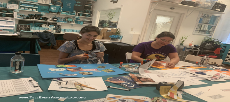 Visitors craft their futures at T.E.A.L.® Vision Board Workshop
