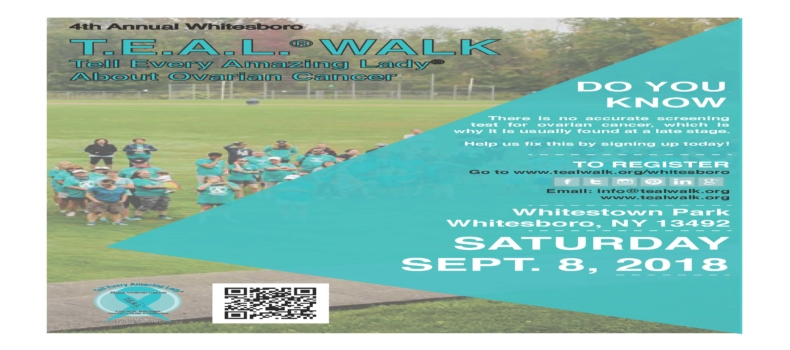 Registration is open for the 4th Annual Whitesboro T.E.A.L.® Walk!