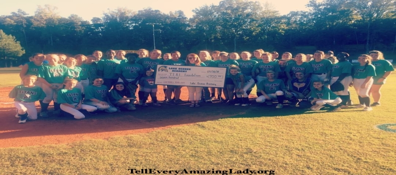 Lady Titans Softball Team Supports T.E.A.L.®