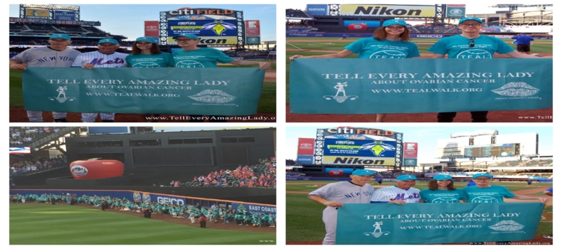 Yankees vs Mets SUBWAY SERIES Coaches Terry Collins and Joseph Girardi united to fight Ovarian Cancer with actor Steve Buscemi and Tell Every Amazing Lady®
