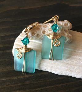 Selection of Teal Earrings and Necklaces from BrooklynGems