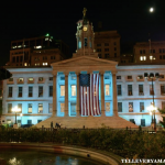 T.E.A.L.® lights Brooklyn Borough Hall teal