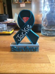 Cancer Survivor Ribbon Sculpture