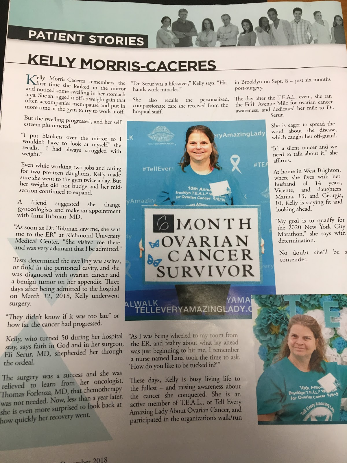 Kelly Morris Survivor Story T E A L Walk Tell Every Amazing Lady